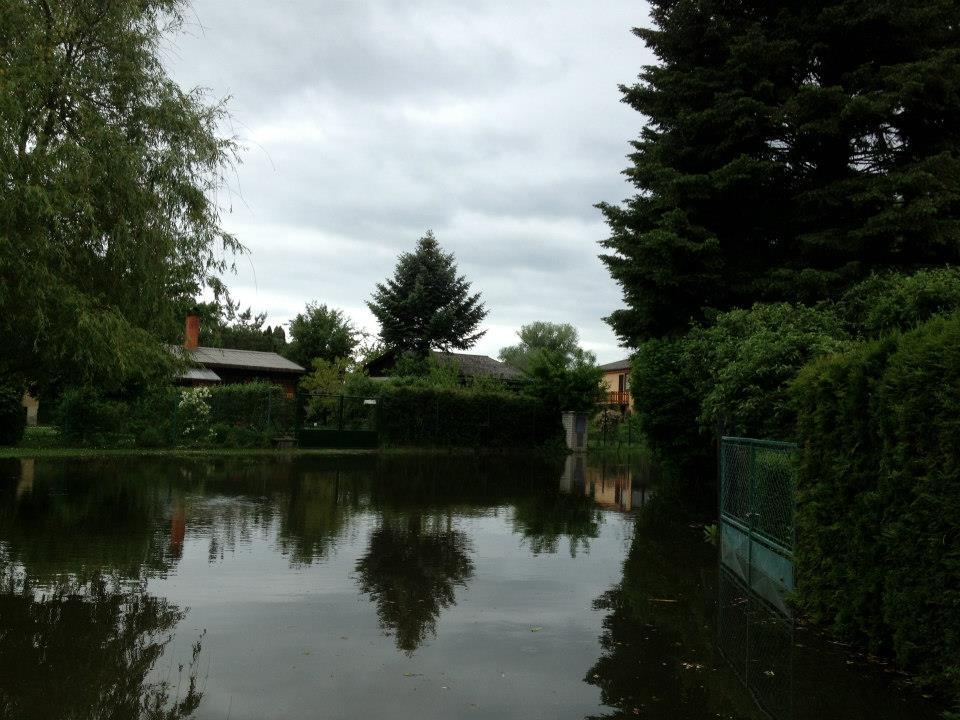 Povodně na plácku včervnu 2013