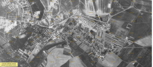 Stále ještě poválečné Milovice v padesátých letech (1954)